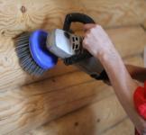 Шлифовка деревянного дома и сруба